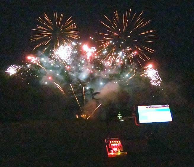 Fireworks being fired