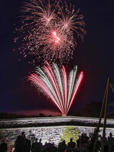 Fireworks at Polhawn Fort