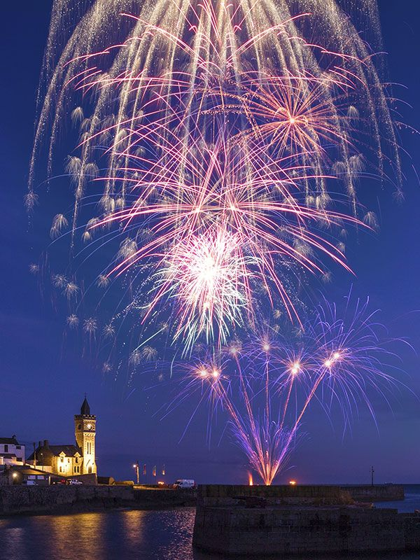 Party Fireworks in Porthleven by Sonic Fireworks